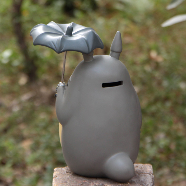 20cm Anime Cartoon Totoro Umbrella Action Figures PVC brinquedos Collection Figures toys for christmas gift free shipping