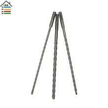 3PC Rotary Hammer Drill Set SDS Plus Deep Double Flutes for Concrete Wall Brick Block Masonry