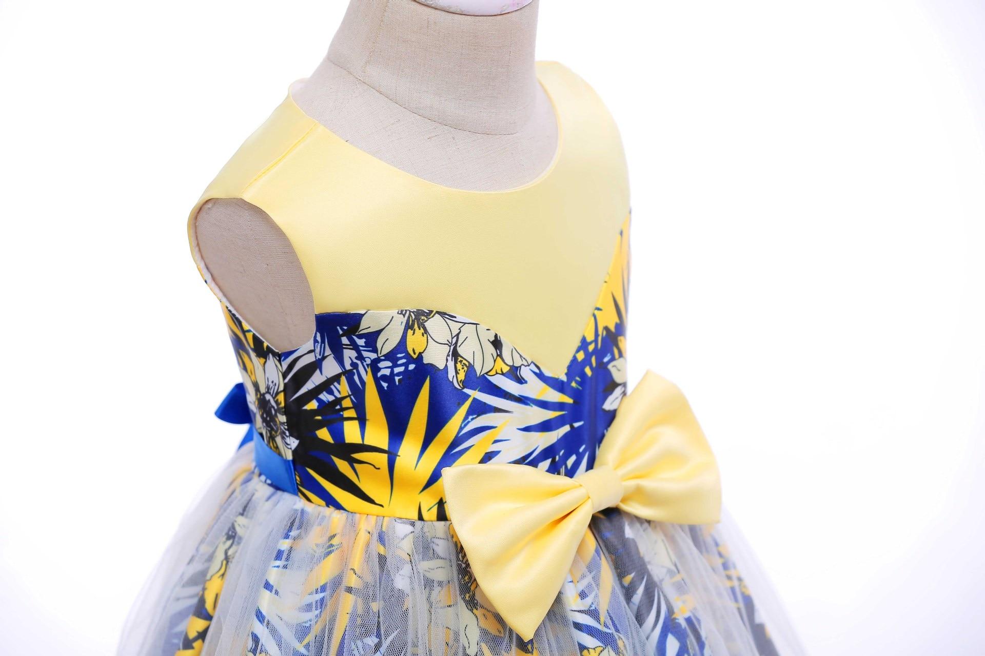 HIBYHOBY 2018 Ny sommarflicka Ärmlös prinsessa klänning ... bd879f337932c