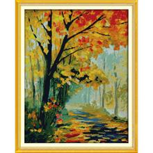 Everlasting love Autumnal scenery (3)  Chinese cross stitch kits Ecological cotton stamped 11 CT Christmas decorations for home