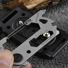 Stainless Steel EDC Tool Outdoor Camping Keychain Supplies Bottle Opener Multi-Function Tools Wrench Portable Multitool dicoria glasses monkey titanium ti hand tools sets multi function screwdrivers bottle opener outdoor gear pocket edc tool