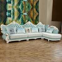 European Style Luxury Sofa Set Living Room Furniture China