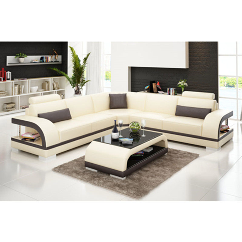 US $1199.0  Living room furniture Modern New Latest design Apartment L  shaped corner leather sofa-in Living Room Sofas from Furniture on AliExpress
