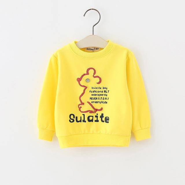 Nuevo Suéter de Los Niños de La Camiseta 2017 Primavera Nuevo Bebé de la manga larga Del Bebé Del Muchacho Del Algodón Camiseta YD096
