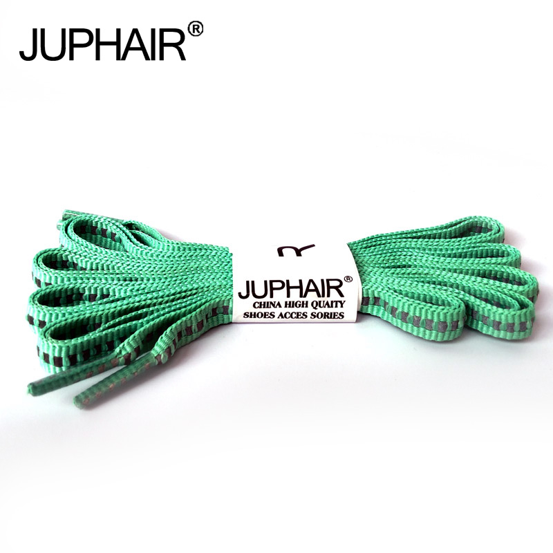 цены  JUP1-12Pair Apple green Reflective Flat Shoelaces Luminous Safety Shoelaces Not Visible Cords Fashion Sneakers Basketballs Laces