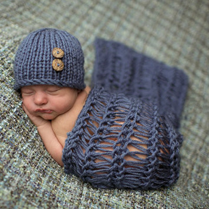 2018 Baby Photo Costume Baby Hat Blanket Photo Photography Prop Props Born Baby Girls Boys Cotton Lovely Crochet Knit New newborn baby girls boys baseball crochet knit costume photography prop 0 4m