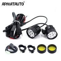 Plug&Play Headlight LED Motorcycle Motorbike 12000LM Moto Spotlight Waterproof Fog Spot Motos Bulb Super bright+Flash controller
