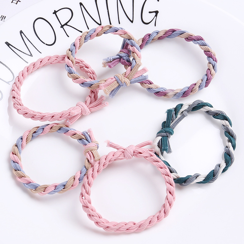 Hair Rope Gum For Hair Accessories Rubber Elastic Hair Bands Women Scrunchy Girls Springs Hair Ornaments Ties   Headwear