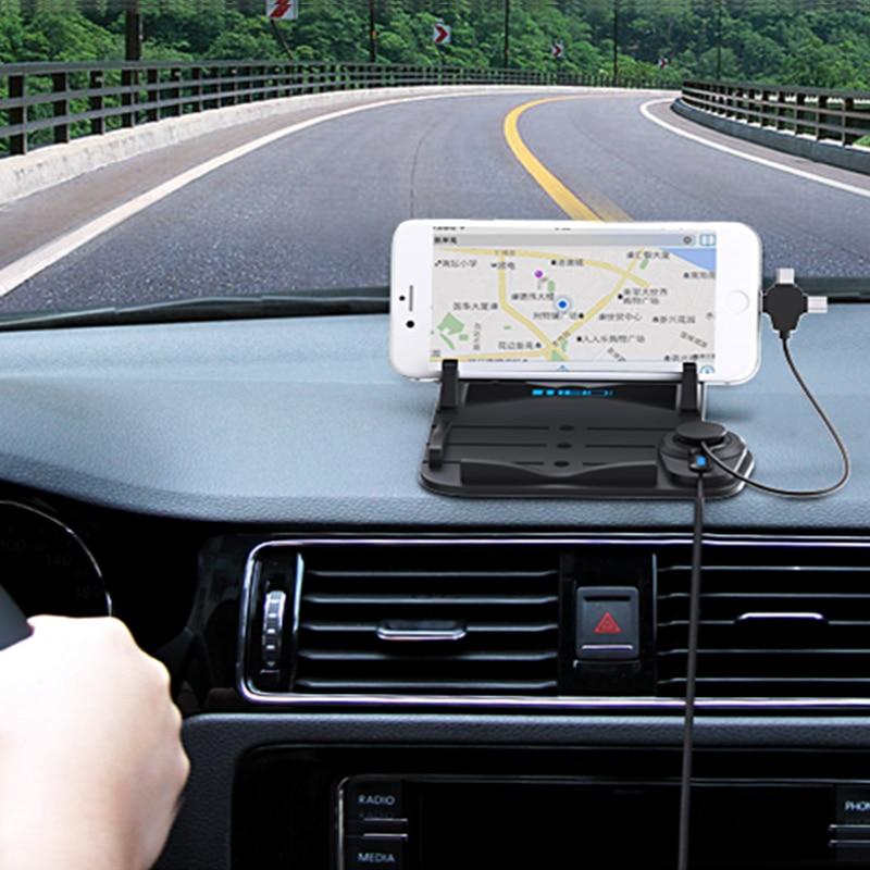 MEIDI Bilmontering Telefonlader Holder USB med DC 5V 2.1A Porta - Bilinnredningstilbehør - Bilde 6