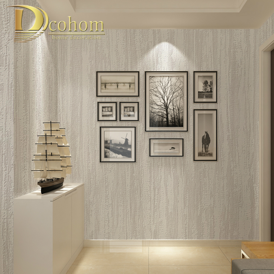 Modern Simple 3D Striped Textured Wallpaper Solid Color Non Woven Wallpaper Living Room Sofa TV Walls Decor Wall Paper Rolls simple striped lines modern wall papers home decor wallpaper for living room bedroom tv sofa background wallpaper for walls 3 d