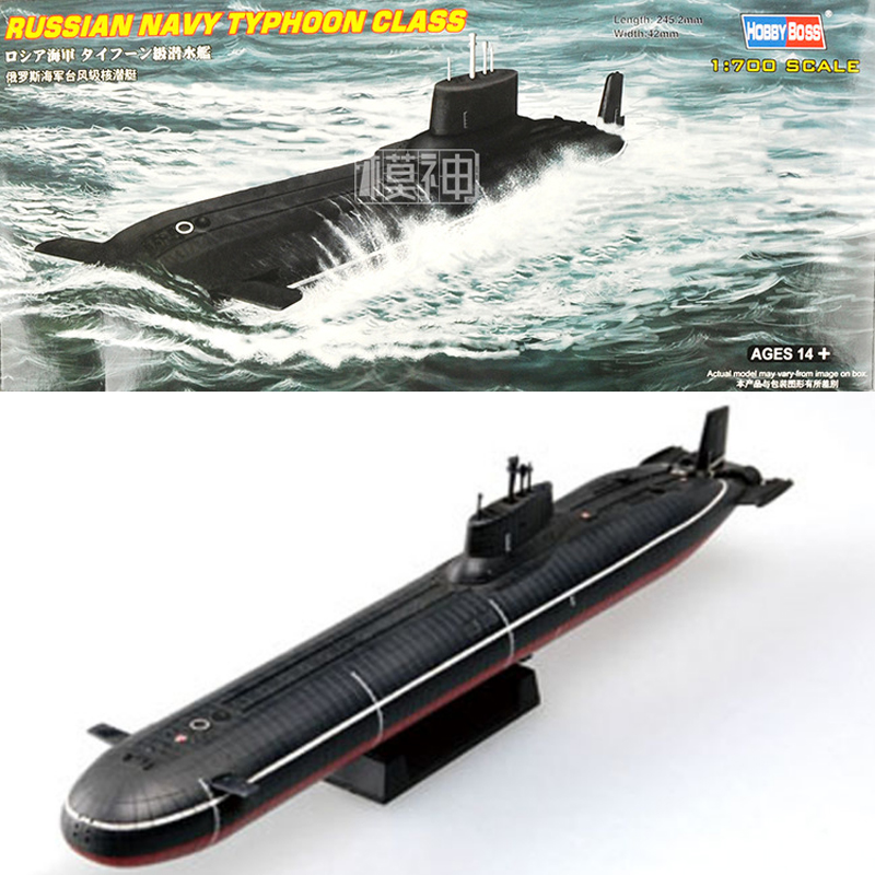 1:700 Russian Navy Typhoon Class Submarine Plastic Assemble Military Warship Model Static Buidling Model Kits