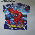 2-6Years SpiderMan children boys La camiseta t shirts new summer cotton cheaper children baby Girls boys t shirts SAILEROAD