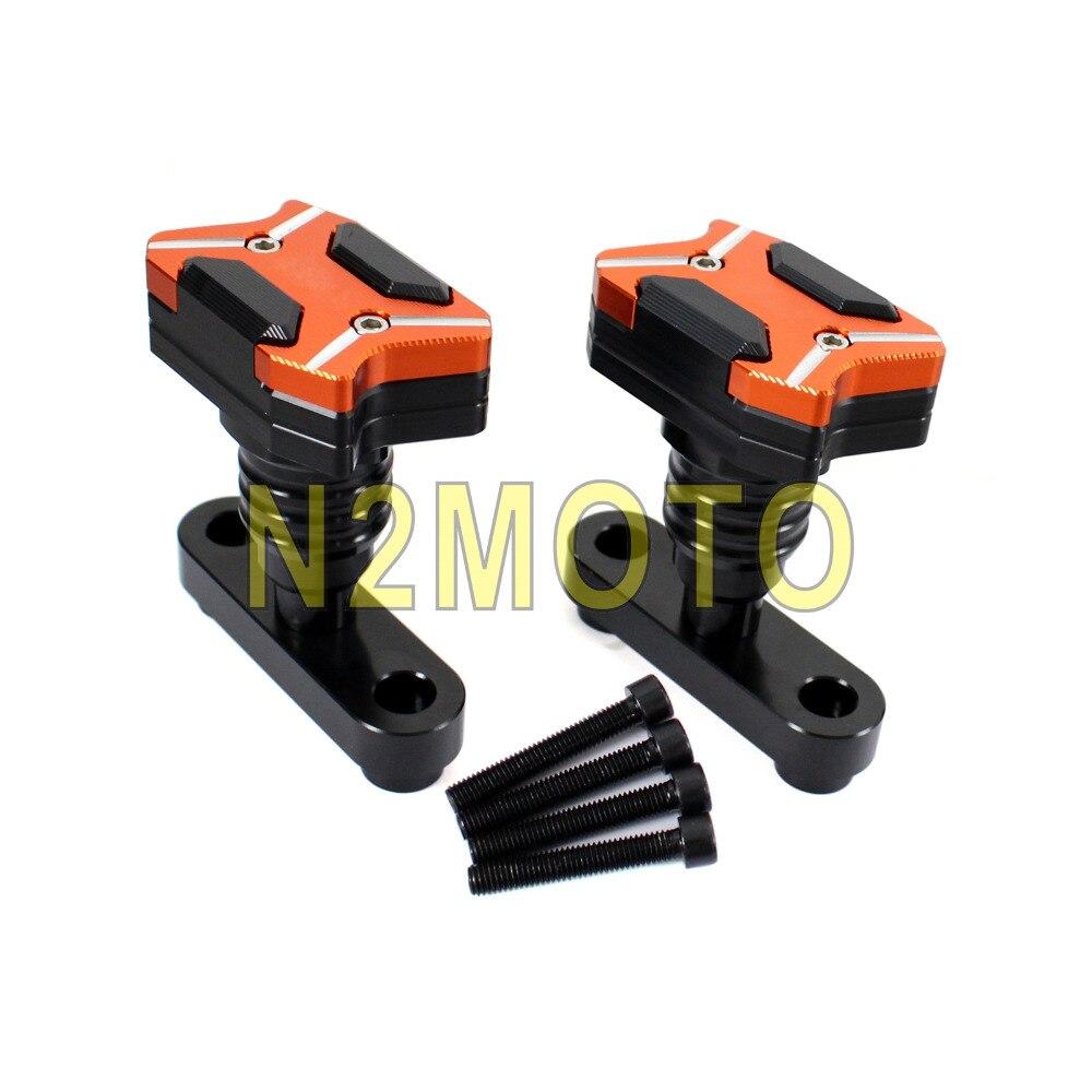 Orange moto moteur curseur Protection latérale protecteur pour DUKE RC 125 250 390 2013-2017