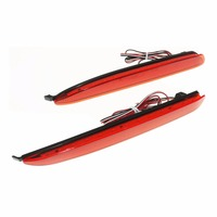 2 PCS Car Styling Car Accessories LED Red Rear Bumper Reflector Lights Parking Warning Brake Tail