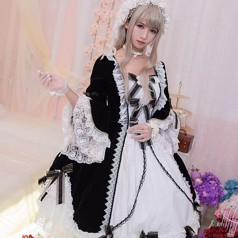 Original Winter Lolita Daily Dress Japanese Lovely Soft Sister Dress Cos Dress Goods In Stock Op Long Sleeve Woman