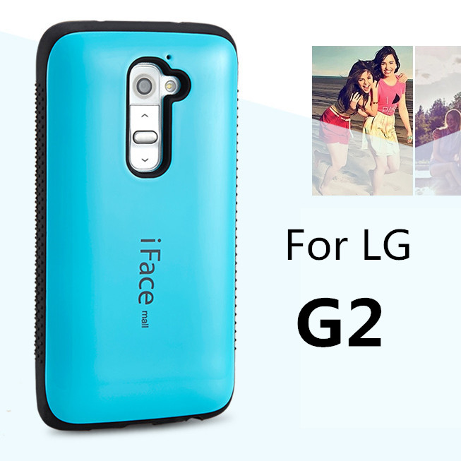 Dropproof phone case For LG G2 D801 D802 case Shockproof Cover For LG G2 case Anti-Knock Shell candy color