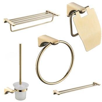 Cuarto de baño accesorios SUS304 de acero inoxidable de baño estante de  toalla de baño de cromo Harsware conjunto titular de cepillo de dientes de  ...