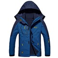 new Winter Jacket Men womens Thick Down parka Coat Thermal Warm Windproof waterproof Jackets Mens Outwear 2 in 1 Parka jacket