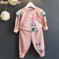 Bear Leader Girls Clothing Sets 2016 Winter Style Girls Clothes Kids Sportswear Cartoon Cute Rabbit Sweatshirts+Pants 2pcs Suits