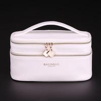 Women Leather Baginbag Cross PU Cosmetics Fashion Cosmetic Bag Belt Pocket Makeup Bag Toiletry Bag Double