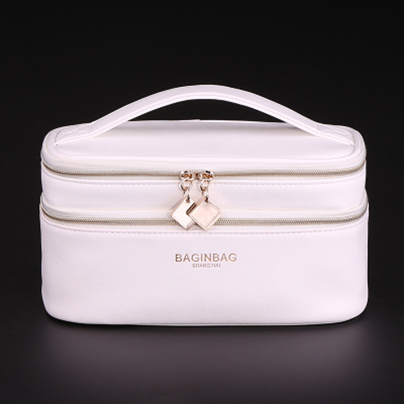 ccd242957cc Detail Feedback Questions about Baginbag Women Leather Cross PU Cosmetic  fashion Cosmetic Bag Belt Pocket Makeup Bag Toiletry Bag Double Layer Cosmetic  Bag ...