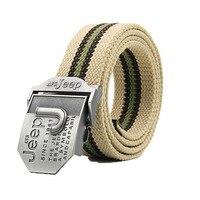 Afs Jeep Brand Unisex Mens Women S Belts Striped Canvas Belt Military Men S Jeans Belts