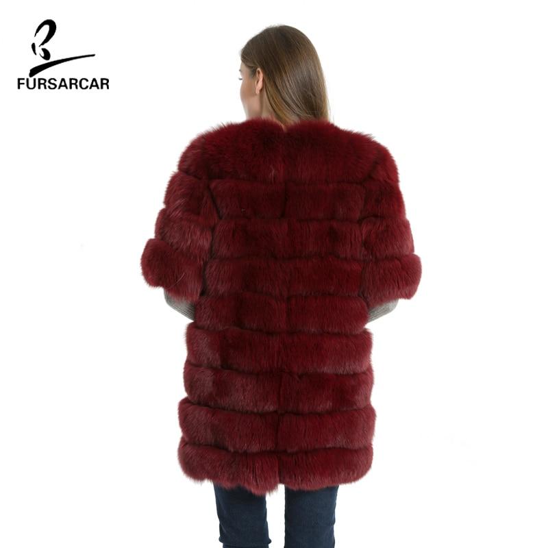 FURSARCAR Natürliche Echte Fuchspelzmantel Frauen Winter Natrual - Damenbekleidung - Foto 2