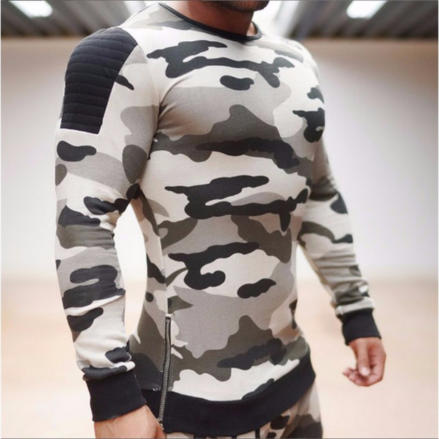 Fashion Hoodies Men 2016 The Elastic Cotton On Hem Double Zipper Brand Clothing Camouflage Jackets Men