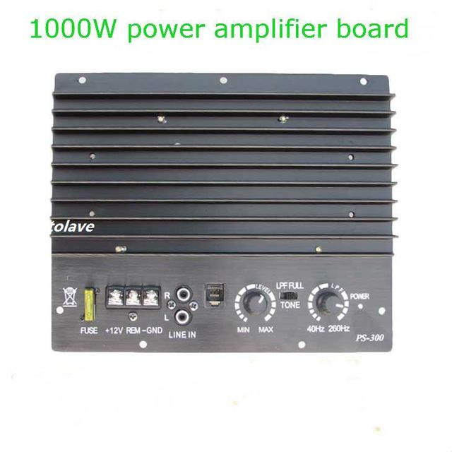 Best Price 12V 1000W  big power car audio power amplifier scooter 10-inch subwoofer mainboard