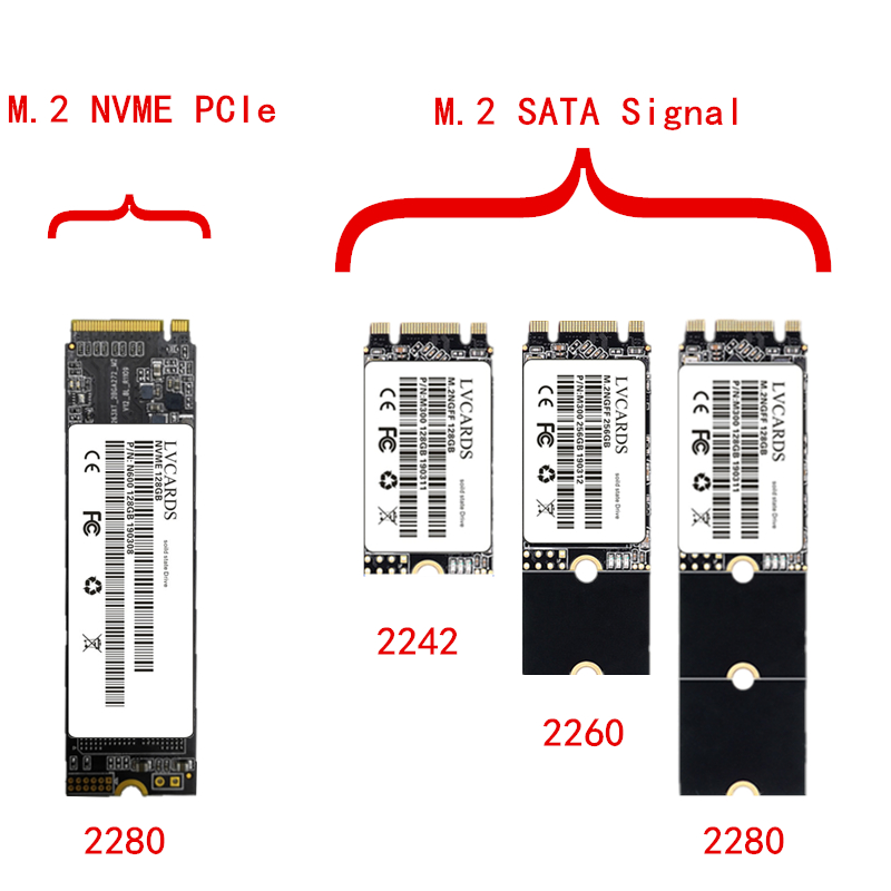 LVCARDS M.2 Ssd 128gb 256gb 512gb 1TB M2 SSD NVME SATA NGFF HDD 2242 Mm 2260mm 2280 Mm Disco Duro Ssd For Notebook PC 1