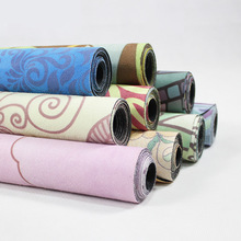 183*68cm*1mm Suede Natural Rubber Yoga Mat Anti Slip Sweat Absorption Yoga Pad Fitness Gym Sports Exercise Pad Yoga Mats