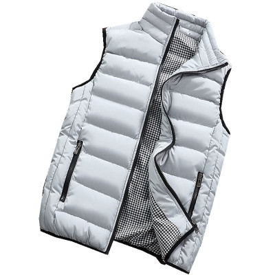 Image 3 - Male Cotton Vest Autumn and Winter Male Vest Couple Solid Color Thickening Vest Men Sleeveless Vest Jacket Waistcoat Large Size-in Vests & Waistcoats from Men's Clothing