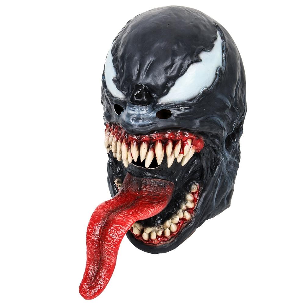 Spider-Man The Venom Mask Black&Red Cosplay SpiderMan Edward Brock Dark Superhero Venom Latex Masks Helmet Halloween Party Props