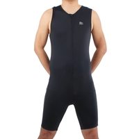 Men Ironman Triathlon Padded Tri Suit Bike Bicycle Cycling One Piece Men Sleeveless Summer Coverall Lycra