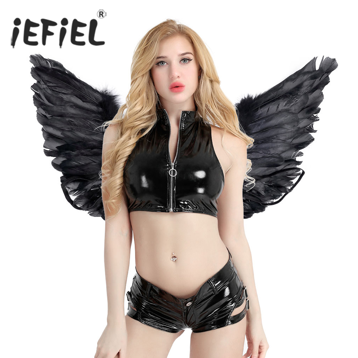 Angel Fairy Real Feather Wings for Dance Party Cosplay Costume Stage Performance Masquerade Carnival Fancy Dress Accessories