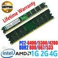 Lifetime Warranty ! NEW DDR2 800 pc2-6400 / DDR 2 800Mhz PC2 6400 5300 667 533 MHz / 1GB 2GB 4GB For Desktop PC DIMM Memory RAM