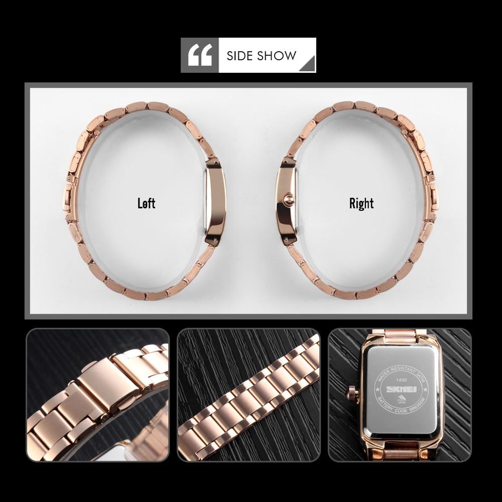 Image 3 - SKMEI Quartz Ladies Watches Fashion Luxury Stainless Steel Women Bracelet Watch Women Watches Waterproof Brand Relogio FemininoWomens Watches   -