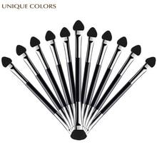 20Pcs Eyeshadow Applicator Pro Sponge Double Ended Make Up Supplies Portable Eye Shadow Brushes Nail Powder Brush Cosmetic Tools все цены