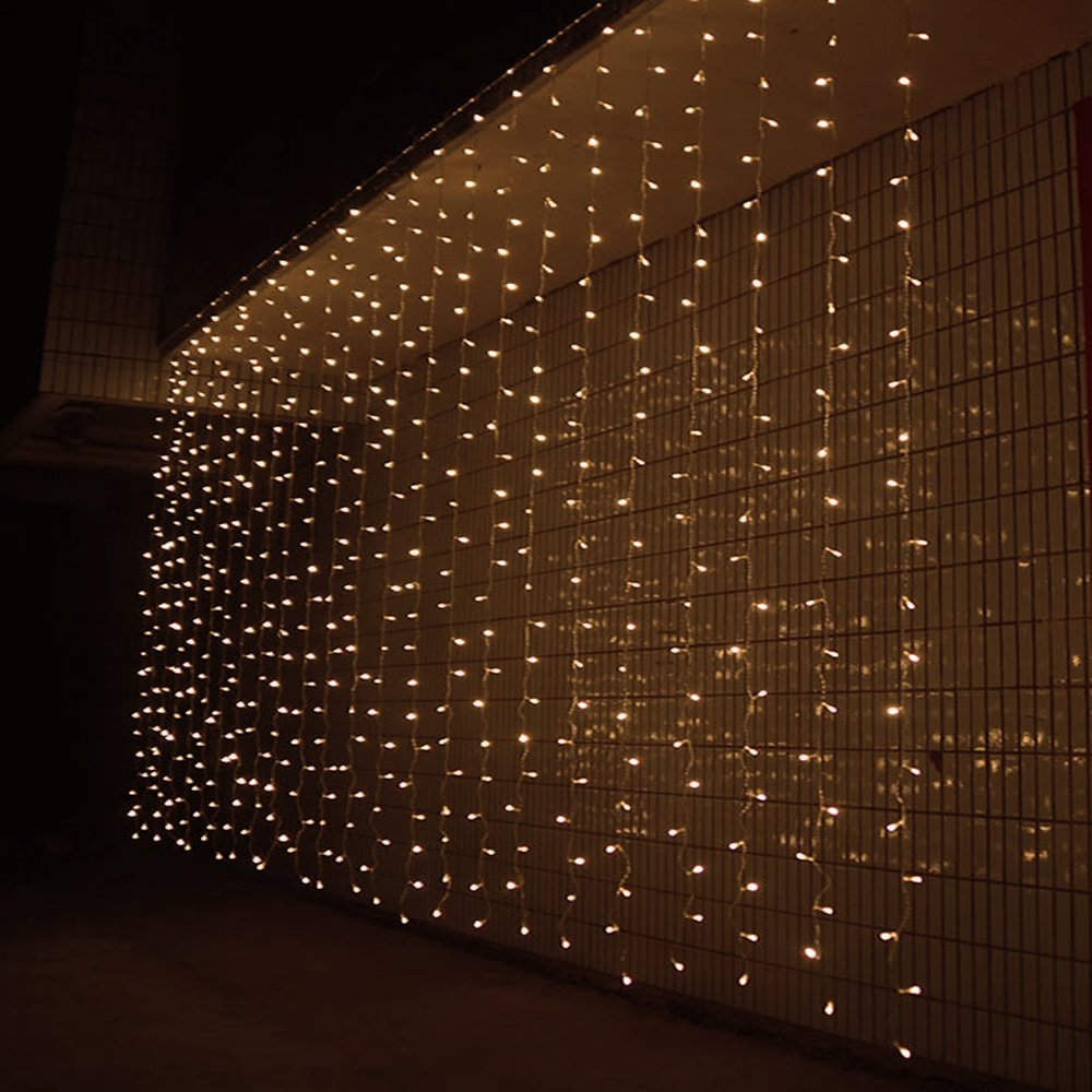 3M x 3M 300 LED Linkable Design Fairy String Curtains Light Ideal for Indoor Outdoor Home Garden Christmas holiday Party Wedding