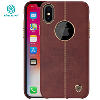 Nillkin Cover For IPhone X Case Cover Luxury Thin PU Leather Smooth Vintage Back Cover For