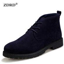 2016 Nouvelle Arrivée Hommes Bottes Chaussures Confortable Noir Hiver Chaud Qualité Mode Hommes Cheville Bottes Casual Dentelle-up Hommes Chaussures d'hiver