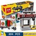 204 unids super heroes batman película 07057 espantapájaros entrega especial diy modelo kit de construcción de bloques de regalos juguetes compatibles con lego