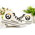 Overwatch cosplay male female children sneakers canvas casual shoes flats drive shoes