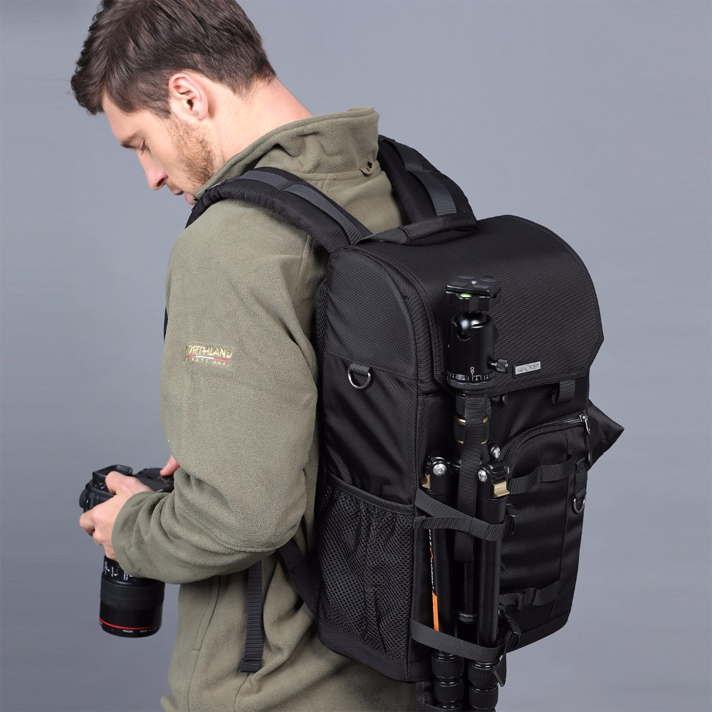 K&F CONCEPT NEW Waterproof Camera Backpack with Raincover Big Capacity Can hold 1 Camera and Multiplel lens for Canon Nikon Sony