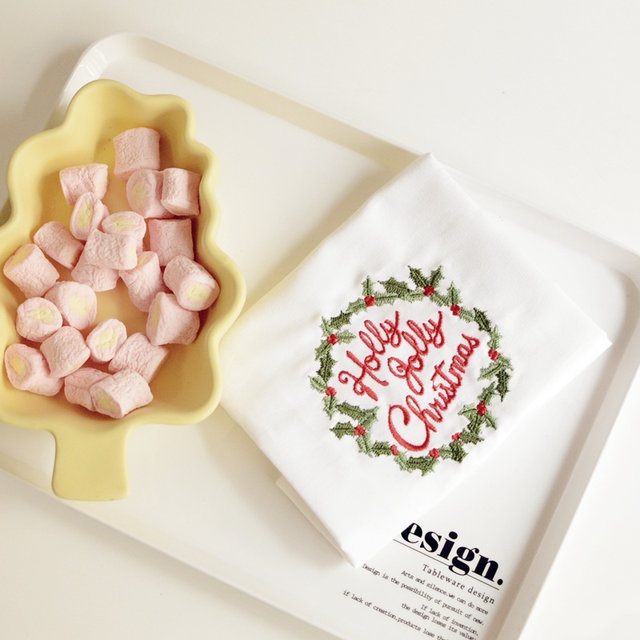 Online-Shop Hochwertige Weihnachts Weiß Baumwolle Geschirrtuch ...