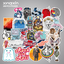 ФОТО 100pcs colorful waterproof sticker animal cartoon stickers for diy skateboard guitar suitcase laptop bicycle stickers