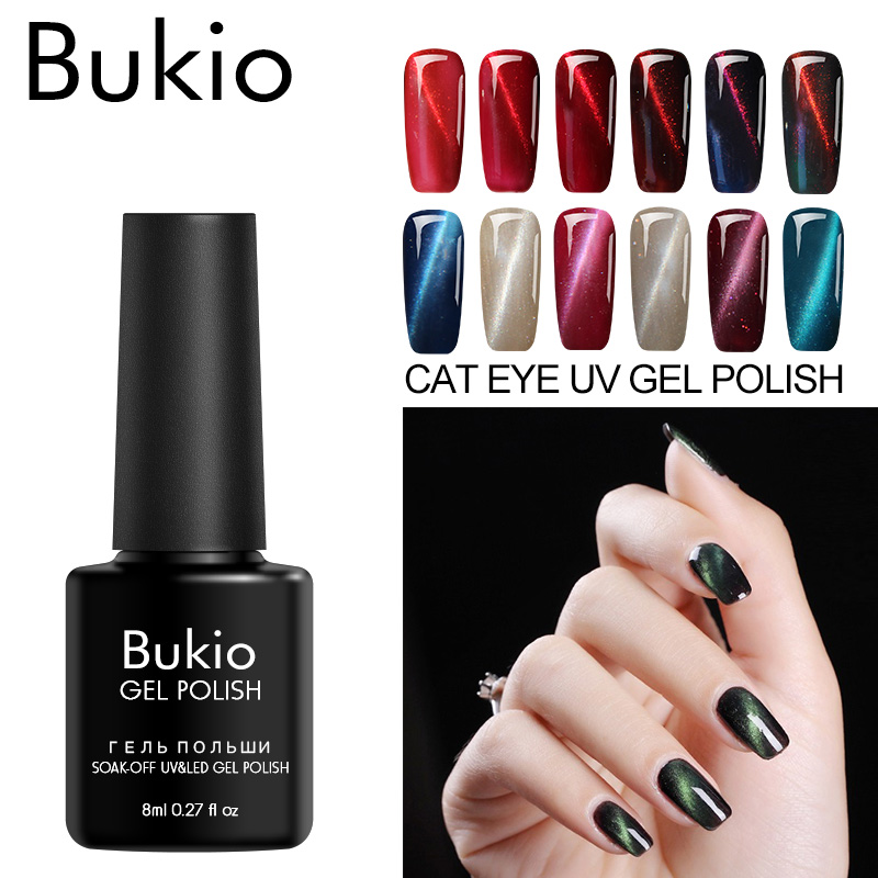 Bukio Nail Polish Set Cats Eye Gel Varnishes for Nails Sale Diverse Nails Color Uv Gel Sets Decor for Manicure Gel Lacquer 8ml