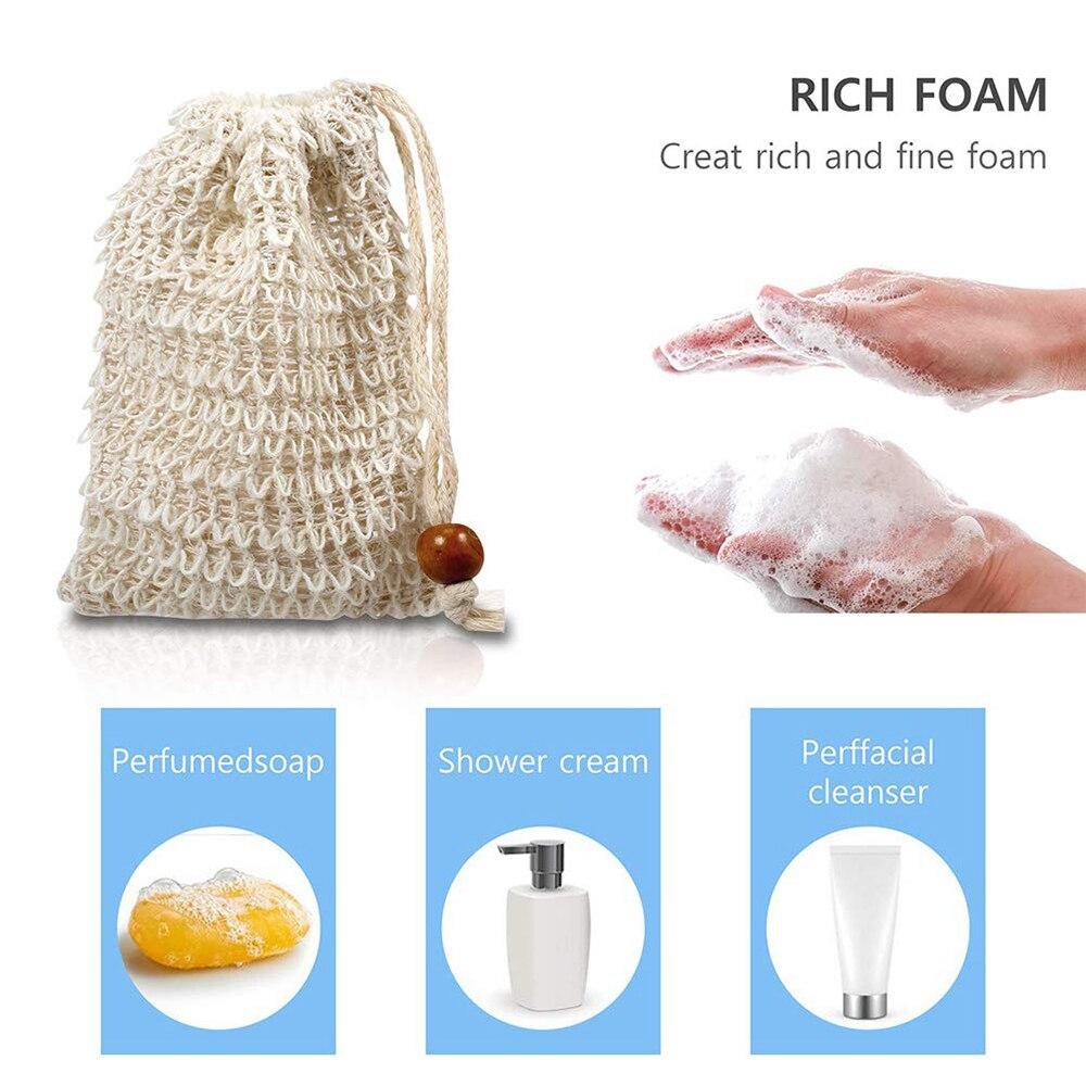 Foaming Net Soap Bag Bath Bag Soap Set Massage Handbag Handmade Soap Bag Bathing Horny Anti-Slip Sleeve Natural Cotton And Linen