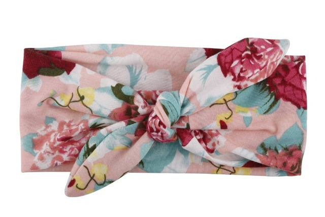 Floral Printed Polyester Headband