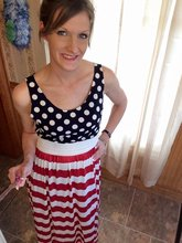 4th of July Matching Mother and Toddler Girl Dress Outfit